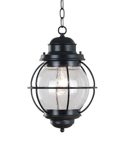 Design Craft Carter Hanging Lantern, Black