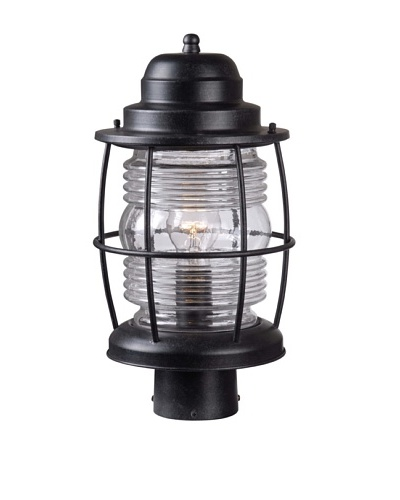 Design Craft Port Post Lantern, Aged Iron