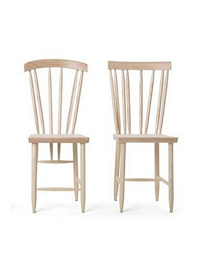 Design House Stockholm Three & Four Family Chair Duo, Natural