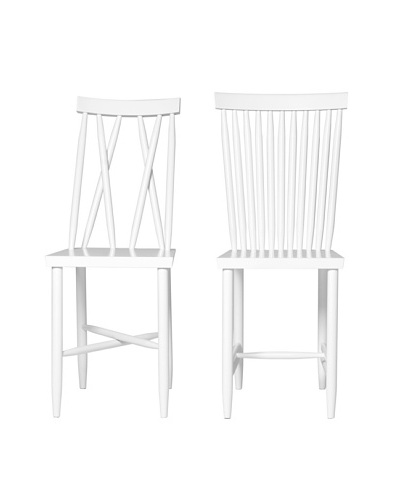 Design House Stockholm One & Two Family Chair Duo, White