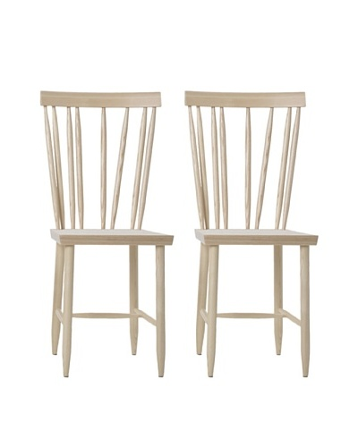 "Design House Stockholm Set of 2 ""Four"" Family Chairs, Natural"