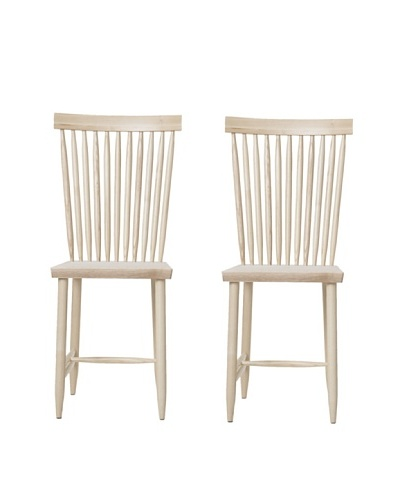 """Design House Stockholm Set of 2 """"Two"""" Family Chairs, Natural"""