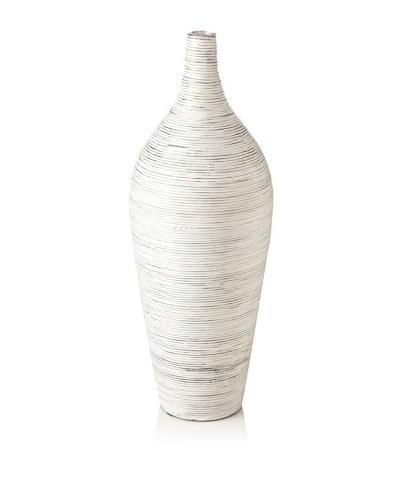 Design Ideas Setai Amphora Vase, Whitewash