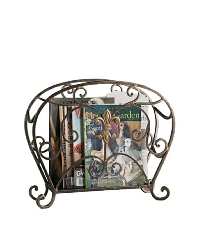 Dessau Home Fleur-de-Lis Magazine Holder
