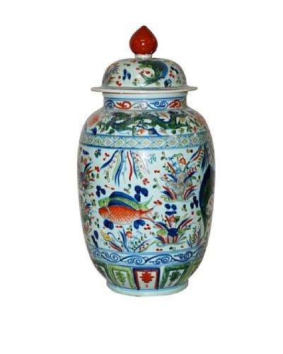 Dessau Home Porcelain Fish Jar