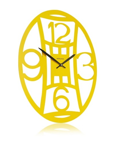 Diamantini & Domeniconi Oval Office Clock, Yellow
