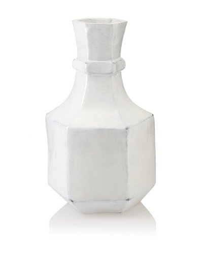 Diamond Reef Saratoga Antique-Finish Ceramic Vase [White]