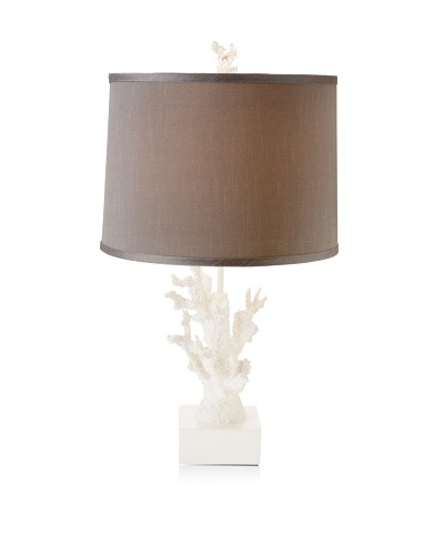 Diamond Reef Coral Design Table Lamp [Grey/White]