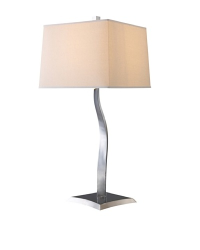 Dimond Lighting Yeadon Table Lamp, Chrome/Off-White