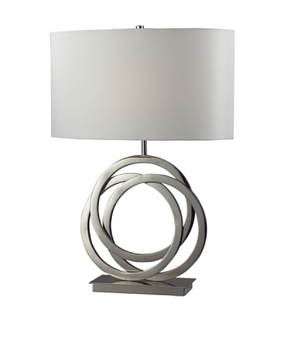Dimond Lighting Trinity Table Lamp, Polished Nickel