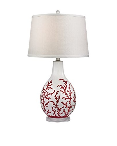Dimond Lighting Red Coral Ceramic Table Lamp