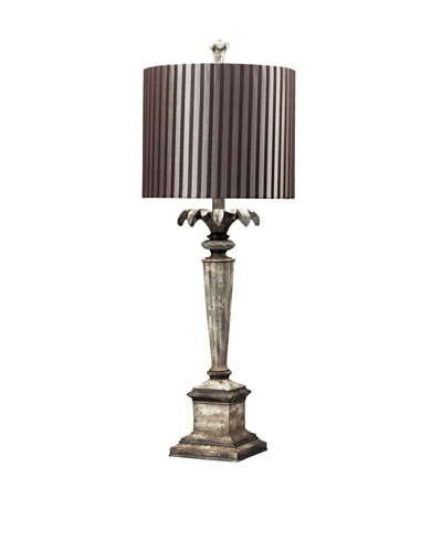 Tekahama Distressed Table Lamp, Herringbone