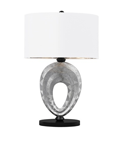 Dimond Lighting Dulce Composite Table Lamp, Silver/Black