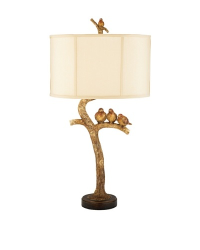 Three Bird Table Lamp