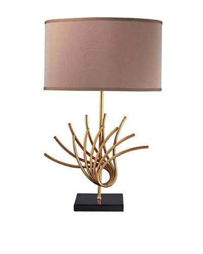Dimond Lighting Sandhill Table Lamp, Gold Leaf