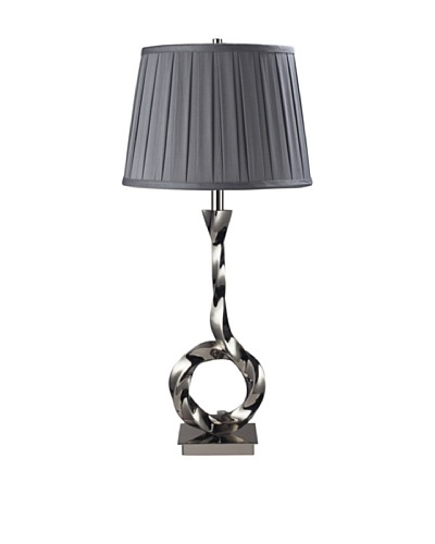 Dimond Lighting Blackstone Avenue Table Lamp, Polished Nickel