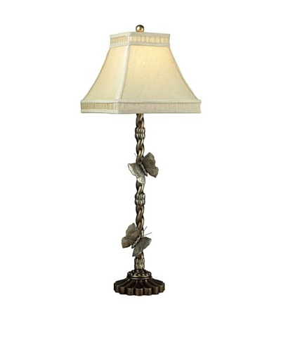 Wolcott Lake Table Lamp, Antiqued Silver Leaf