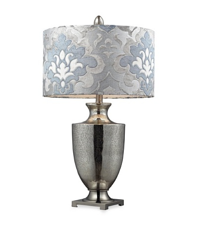 Dimond Lighting D2248P Langham Table Lamp, Antique Mercury Glass and Polished Chrome Finish