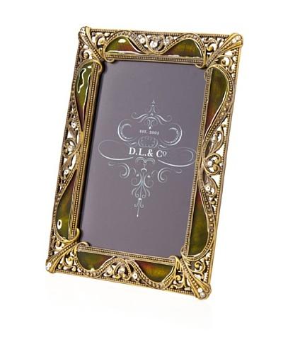 D. L. & Co. Belle Epoque Frame, Green/Amber, 4 x 6