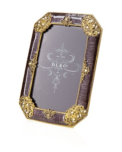 D. L. & Co. Ornate Frame, Dark Purple, 4 x 6