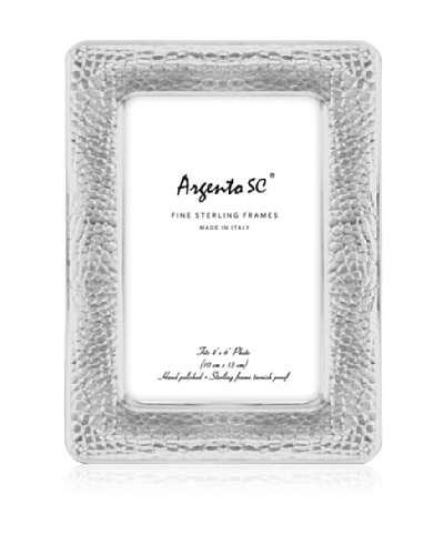 Argento SC Crocodile Sterling Picture Frame, 4 x 6