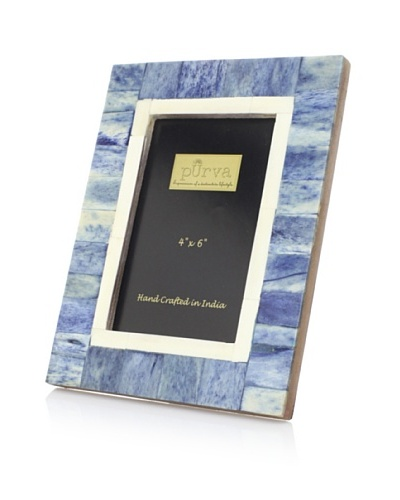 Purva Deep Sea Blue Bone Photo Frame