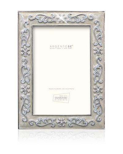 Swarovski by Argento SC Precious Picture Frame, Ivory, 4 x 6