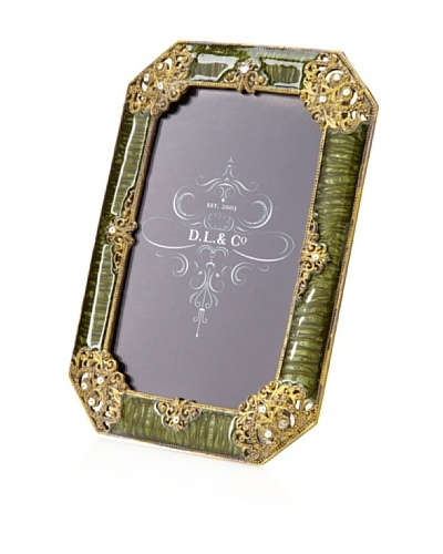 D. L. & Co. Ornate Frame, Green, 4 x 6