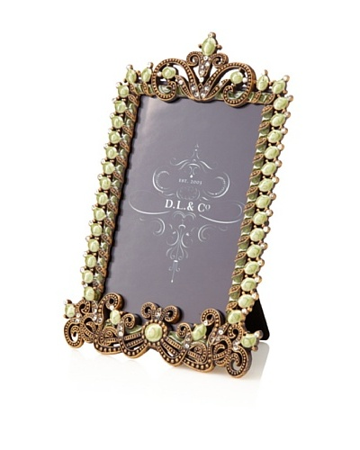 "D. L. & Co. Jewel Border Frame, Green, 4"" x 6"""