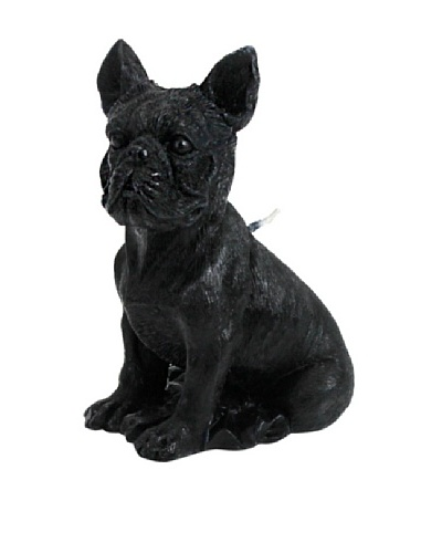 D.L. & Co. French Bulldog Candle, Black
