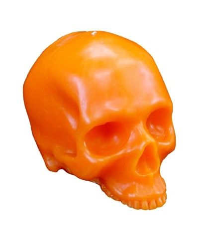 D.L. & Co. Skull Candle, Orange, Medium