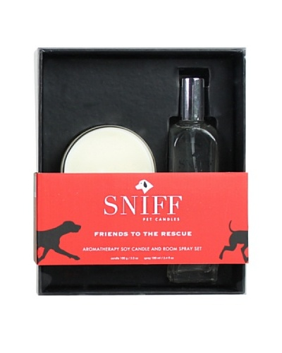 D.L. & Co. Friends to the Rescue Room Spray & Soy Candle Gift Set