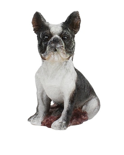 D.L. & Co. French Bulldog Hand-Painted Candle