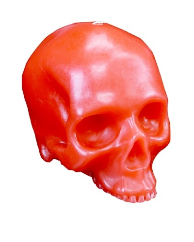 D.L. & Co. Skull Candle, Red, Medium