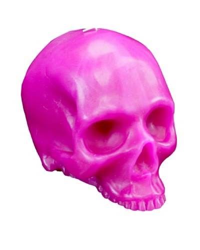 D.L. & Co. Skull Candle, Pink, Medium