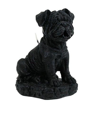 D.L. & Co. English Bulldog Candle, Black