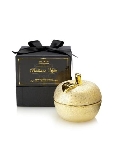 D.L. & Co. Brilliant Gold 4.75-Oz. Apple Candle in Gift Box