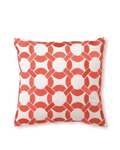 "D.L Rhein Mod Link Embroidery Pillow, Mango, 16"" x 16"""