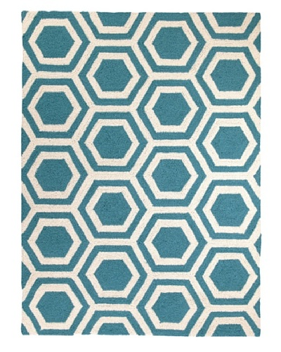 D.L. Rhein Hexagon Hook Rug [Turquoise]