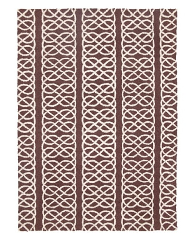 D.L. Rhein Nautical Knot Hook Rug [Chocolate]