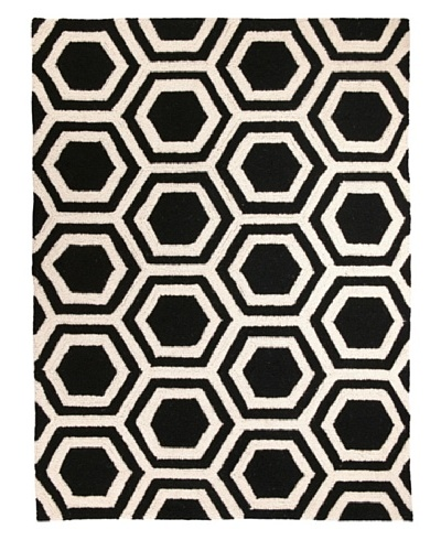 D.L. Rhein Hexagon Hook Rug [Black]