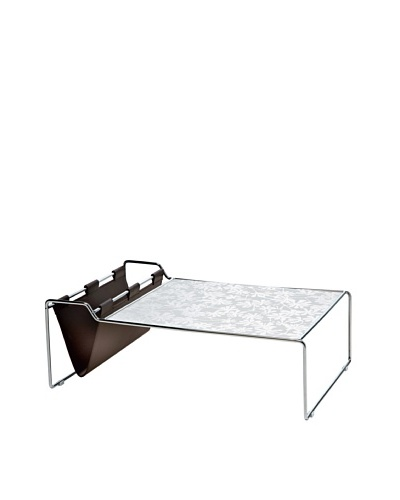 Domitalia Bijou Rectangular Coffee Table, Silver/WhiteAs You See