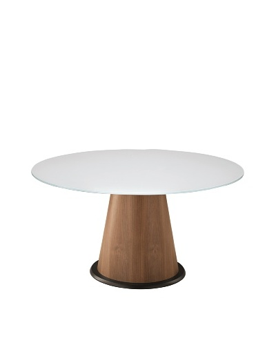 Domitalia Palio Round Table, Walnut/White
