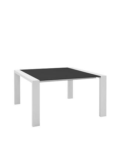 Domitalia Fashion-Q Square Table, White/BlackAs You See