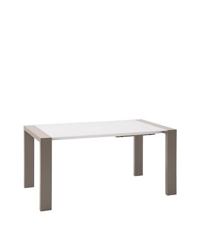 Domitalia Fashion Rectangular Table, Taupe/White