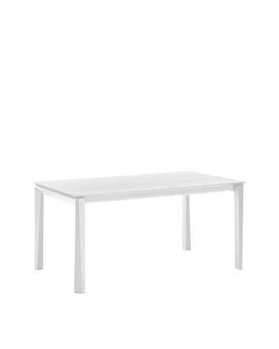 Domitalia Universe Rectangular Table, White