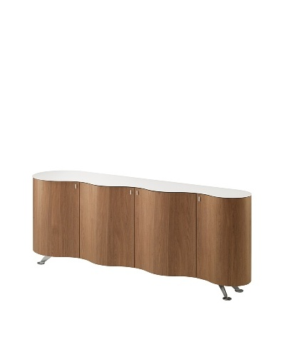 Domitalia Palio Sideboard, Chrome/Walnut