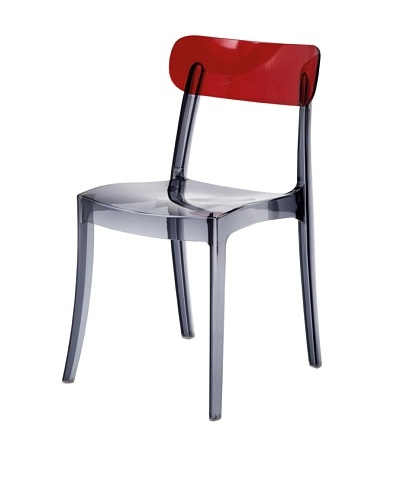 DOMITALIA New Retro Chair, Smoke/Red