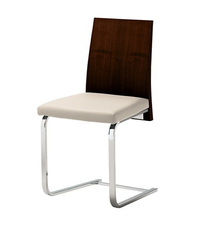 Domitalia Jeff Chair, White/WengeAs You See