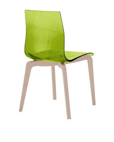 Domitalia Gel-L Chair, Transparent Green/Ash White